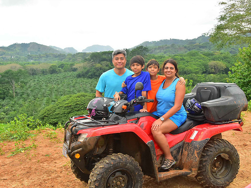 Ride an atv